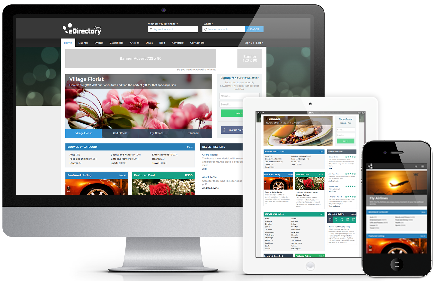 Exemplos de sites responsivos archives edirectoryedirectory for Decorating sites
