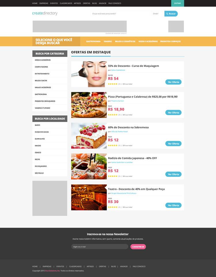 Exemplo de Redesign e customização aplicada ao template padrão do eDirectory