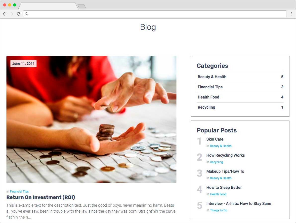 eDirectory - Módulo de Blog