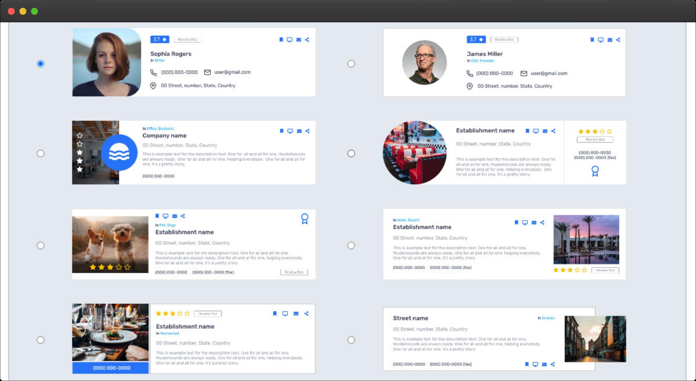 eDirectory - Editor de Modelos de Anúncios