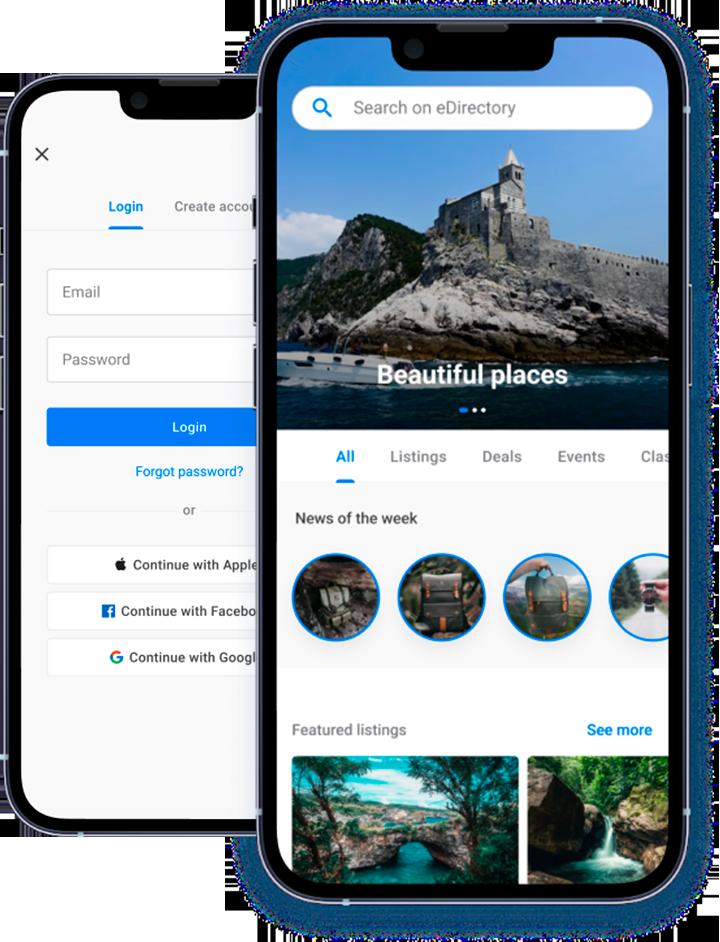 Construtor de Aplicativo Mobile eDirectory para iOS