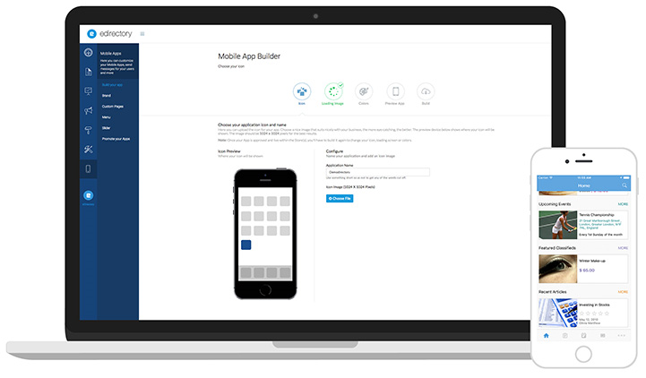 eDirectory - Construtor de Aplicativos Mobile
