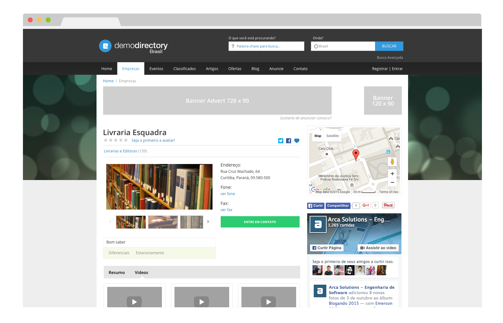 eDirectory Múltiplos Videos para Empresas