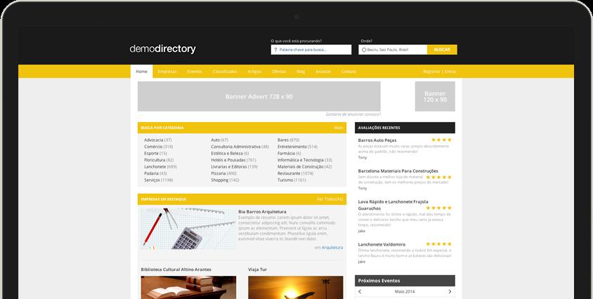 Páginas Amarelas construídas com o eDirectory