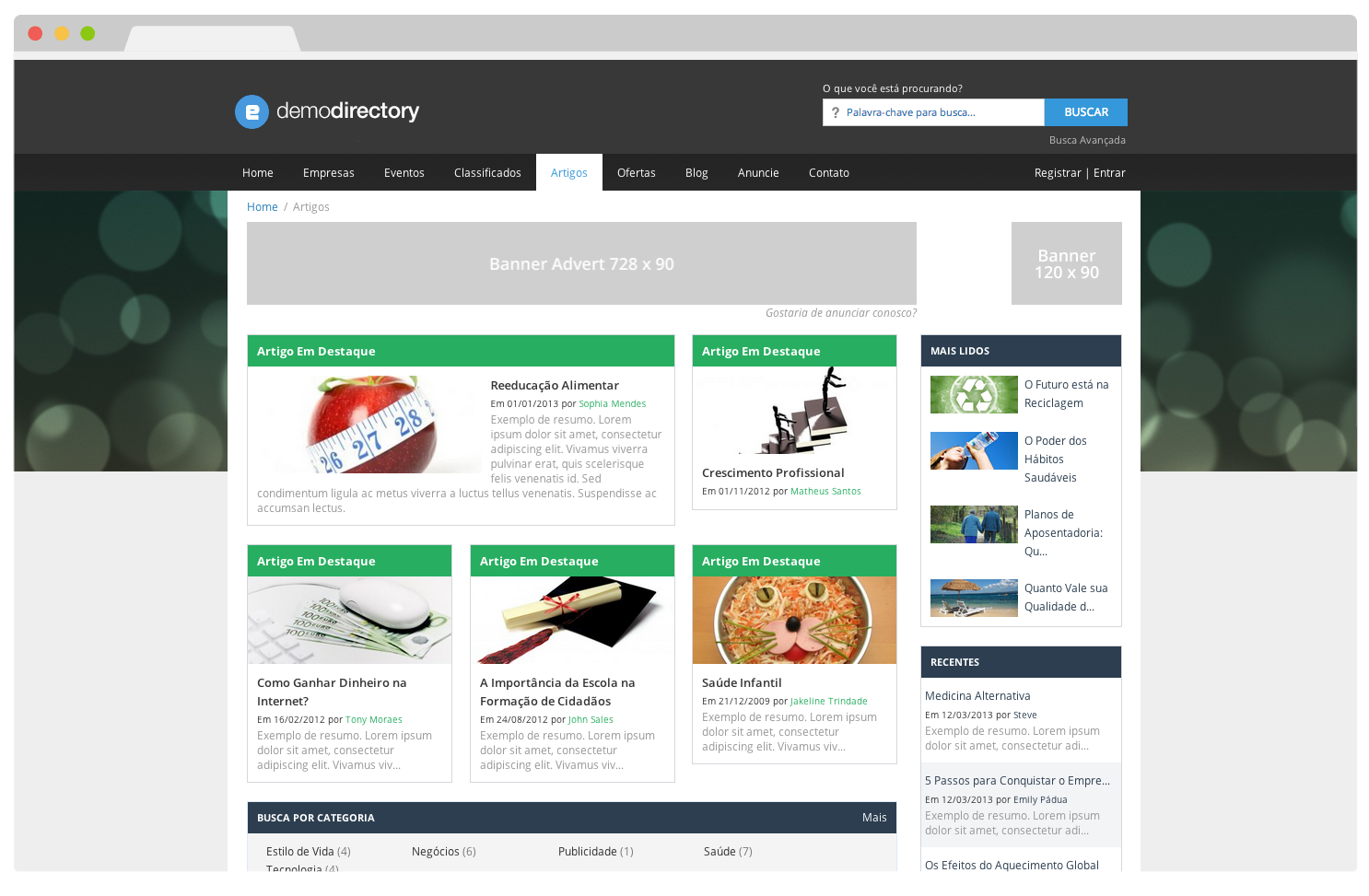 Tema eDirectory - Artigos