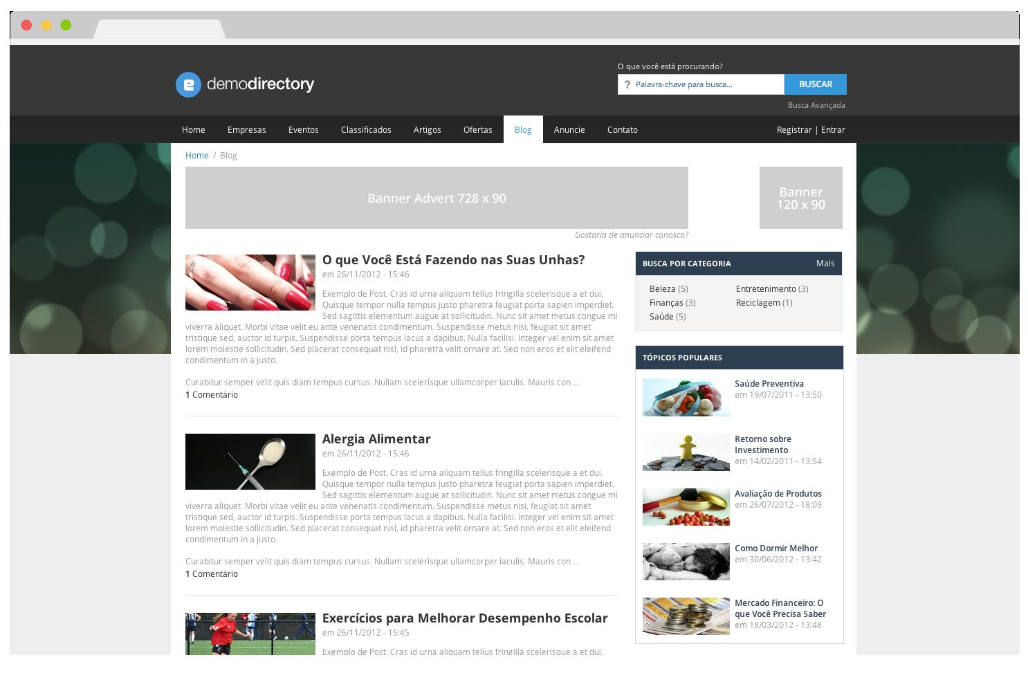 Tema eDirectory - Blog