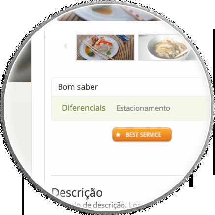Tema eDirectory Guia de Restaurantes - Funcionalidade Bom saber